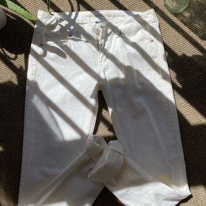 American Eagle Stretch White Jeans